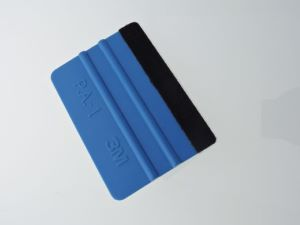 Blue Plastic 3M Squeegees (with one edge felt covered) 100 mm wide Image